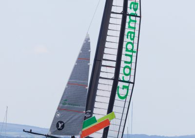 Groupama rising on foils, Americas Cup 2015 , Solent