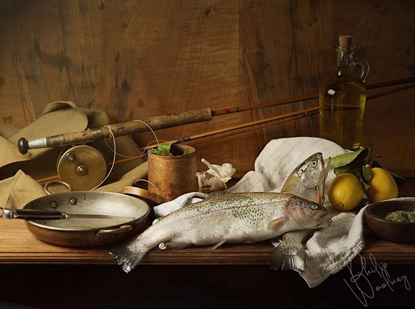 Rainbow Trout for dinner, a still life by Philip Woolway Creative Photography
