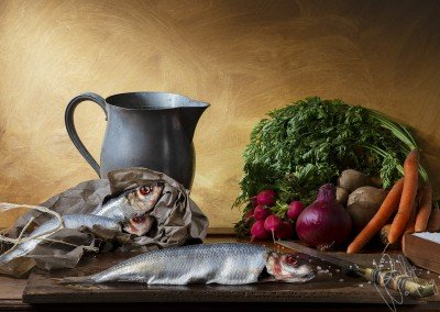 Herring and Vegetables - Still Life