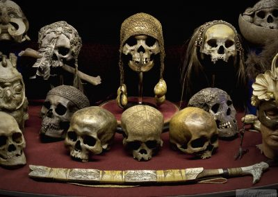 Borneo headhunter trophies and the tool of the trade