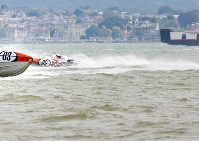 Pertemps P1 first at the turn at Stokes Bay, Gosport
