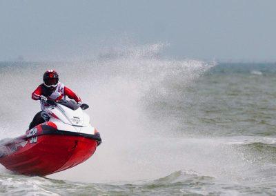 Jet ski racing on the Solent