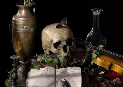 Vanitas- The worthlessness of worldly possessions.
