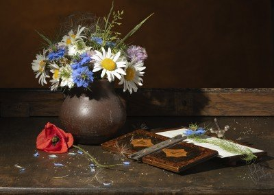 Still Life - Wild Flowers with Flower Press