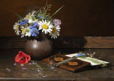 Still Life - Wild Flowers with Flower Press